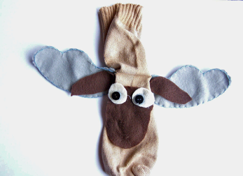 How to Make a Moose Sock Puppet