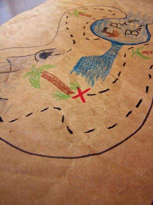 Simple kids pirate treasure map www.createinthechaos.com