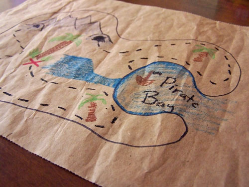 Simple kids pirate treasure map www.createinthechaos.com