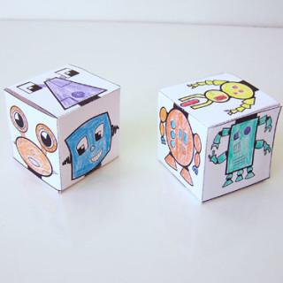 Free printable mix-n-match robot blocks - fun and easy kids craft! www.createinthechaos.com