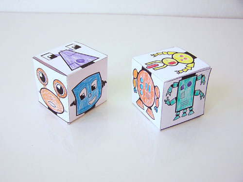 Free printable mix-n-match robot blocks - fun and easy kids craft! www.createinthechaos.com