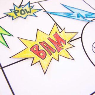 printable comic book for kids
