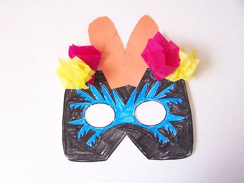 A fun kids craft- Printable jungle animal masks. Toucan and monkey masks www.createinthechaos.com