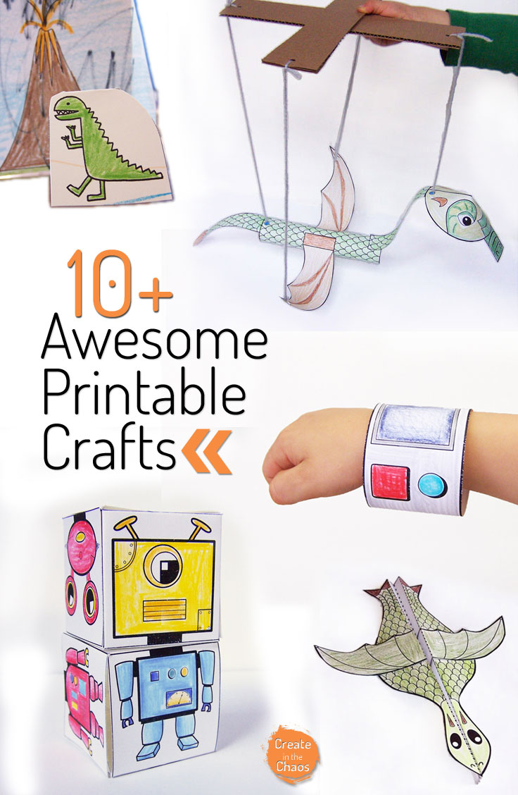 A roundup of 10+ Awesome Printable Crafts