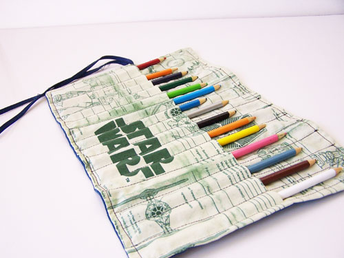 Easy pencil roll tutorial with Star Wars fabric www.createinthechaos.com