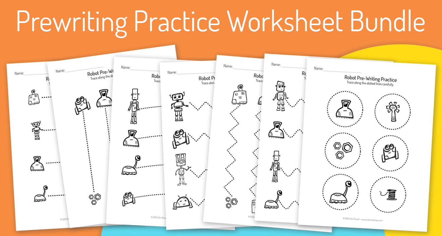 Prewriting Practice Worksheets - Help your students improve fine motor control and practice tracing skills with these pre-writing practice printables