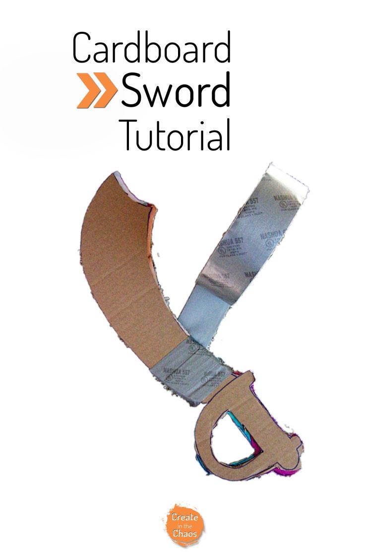 Cardboard pirate sword tutorial www.createinthechaos.com