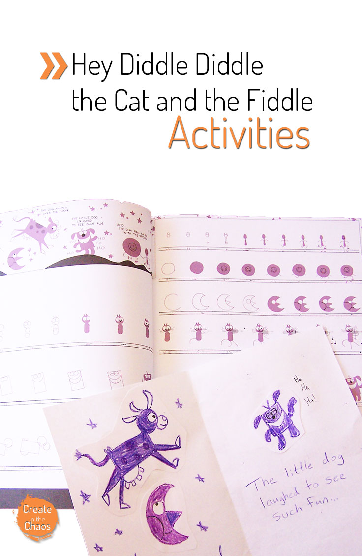 Hey Diddle Diddle, the Cat and the Fiddle fun activities www.createinthechaos.com