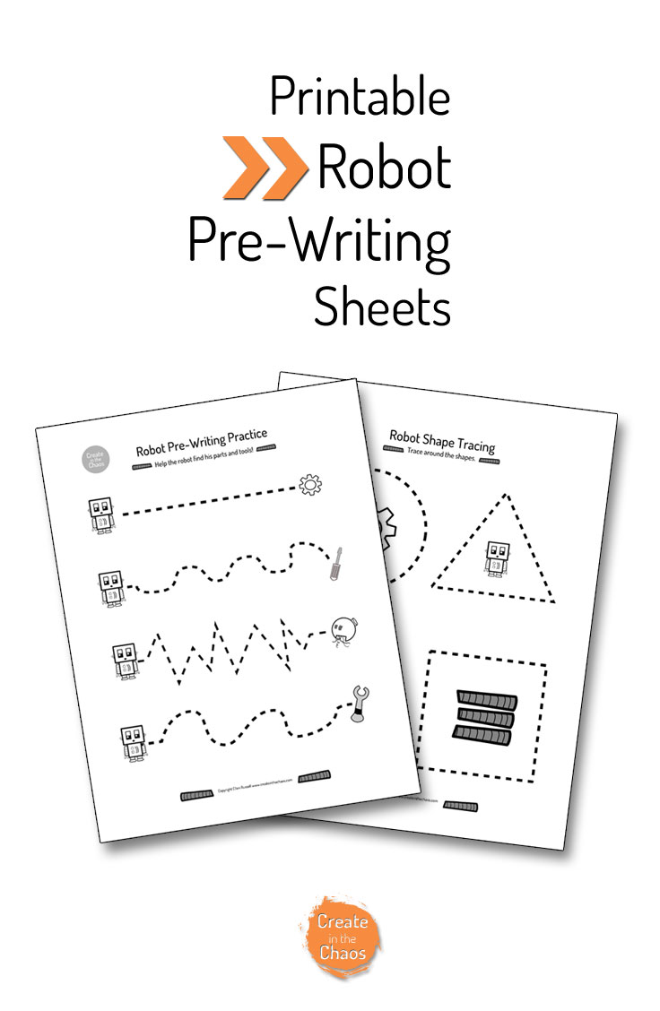 Printable Pre-Writing Practice Sheets www.createinthechaos.com