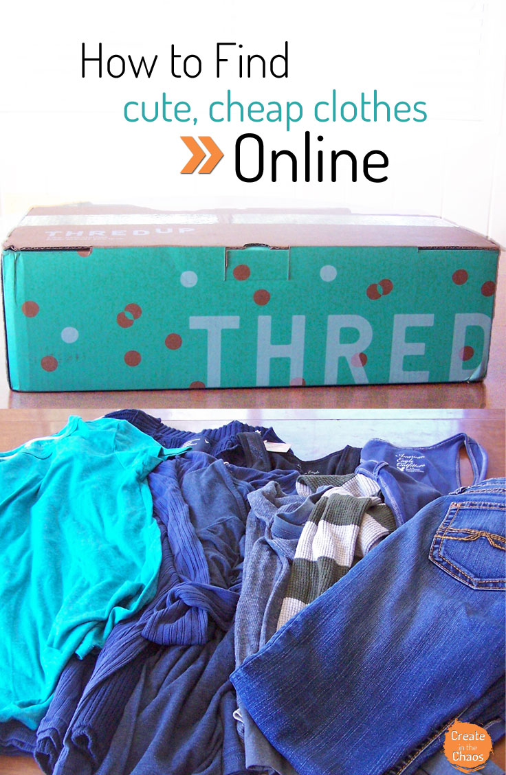Finding cheap and cute clothes online with Thred Up www.createinthechaos.com