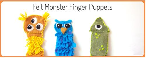 Monster Finger Puppets