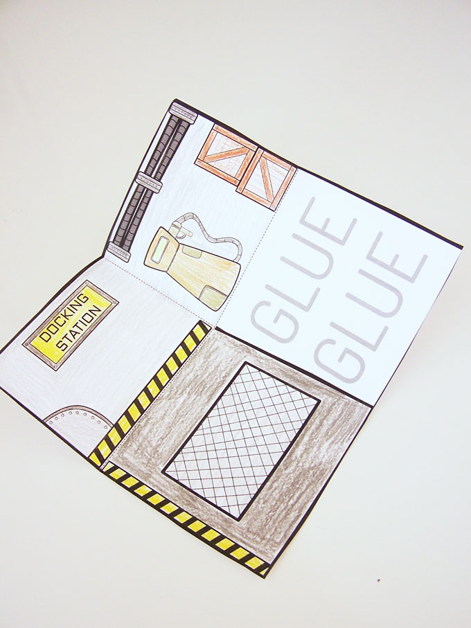 Printable Robot house playset - unique, easy, and fun kids craft you can print for free. The boys loved playing with this craft! www.createinthechaos.com