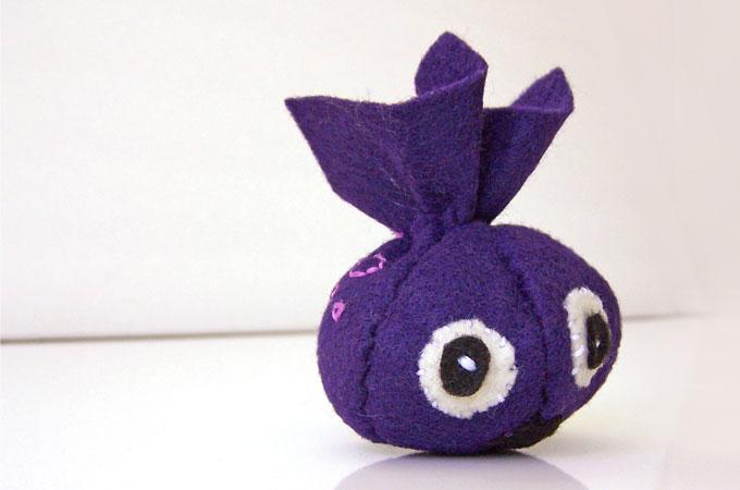 Mini Stuffed Felt Monster