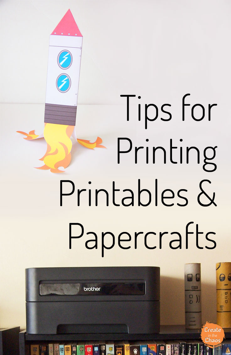 Tips and tricks for printing printables and papercrafts affordable - what paper to use & how to save money on ink. Great if you print a lot of kids crafts and activities or printables. www.createinthechaos.com