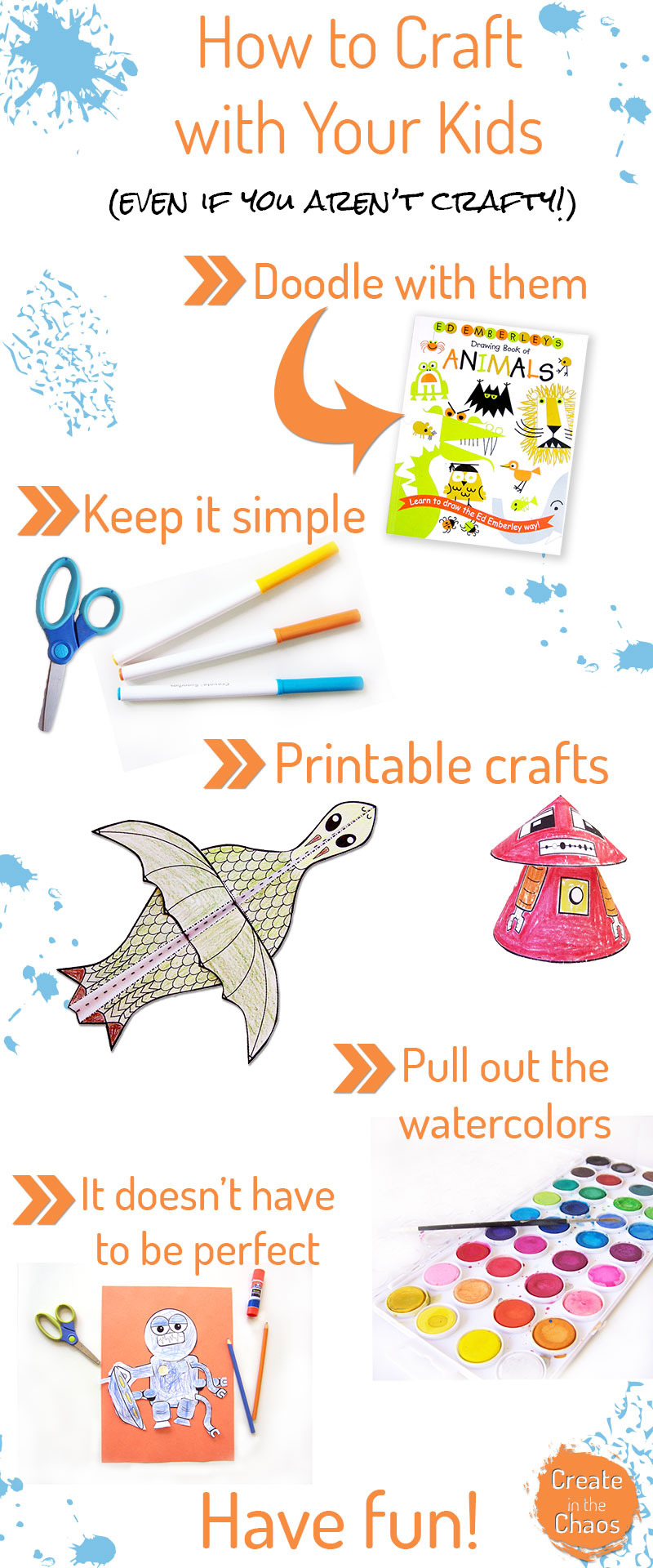 How to craft with your kids (even if you aren't crafty ) www.createinthechaos.com