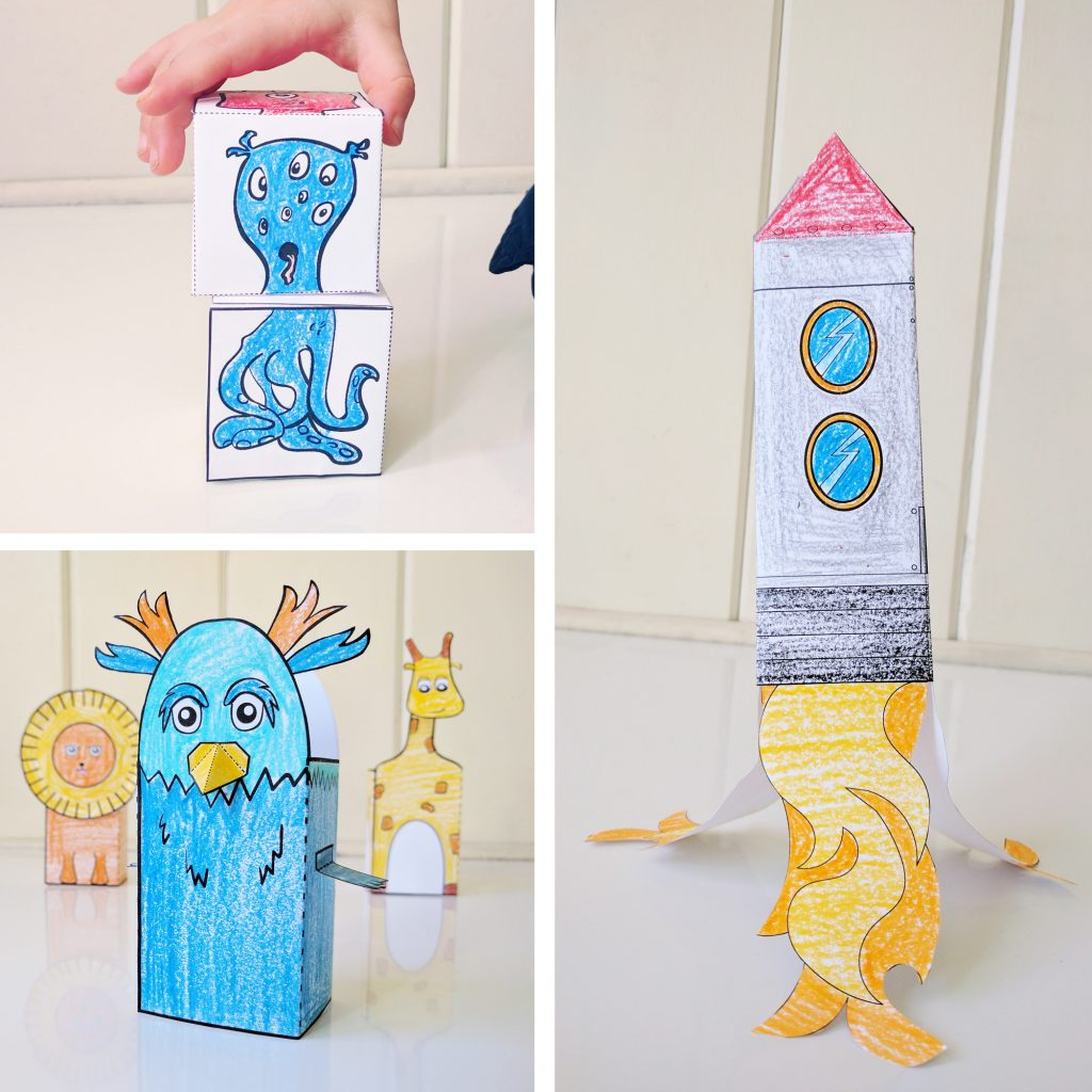 Use these printable papercrafts in your classroom, whether you're teaching in person or using distance learning