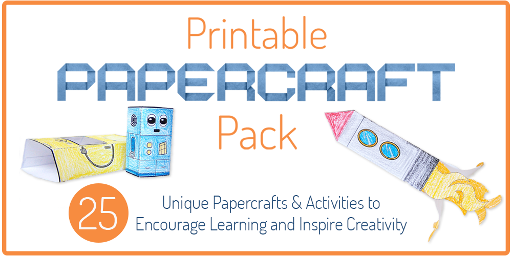 Printable Papercraft Pack - Inspire Creativity