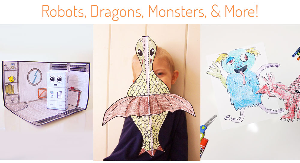 Robots, Dragon, and Monster Crafts