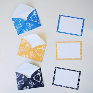 Printable envelopes and notecards