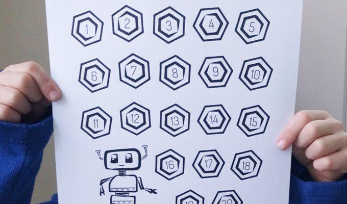 Printable Robot Progress Chart