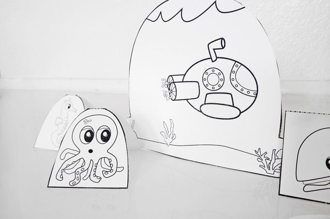 Printable Ocean Craft for Kids - activity for the classroom or library