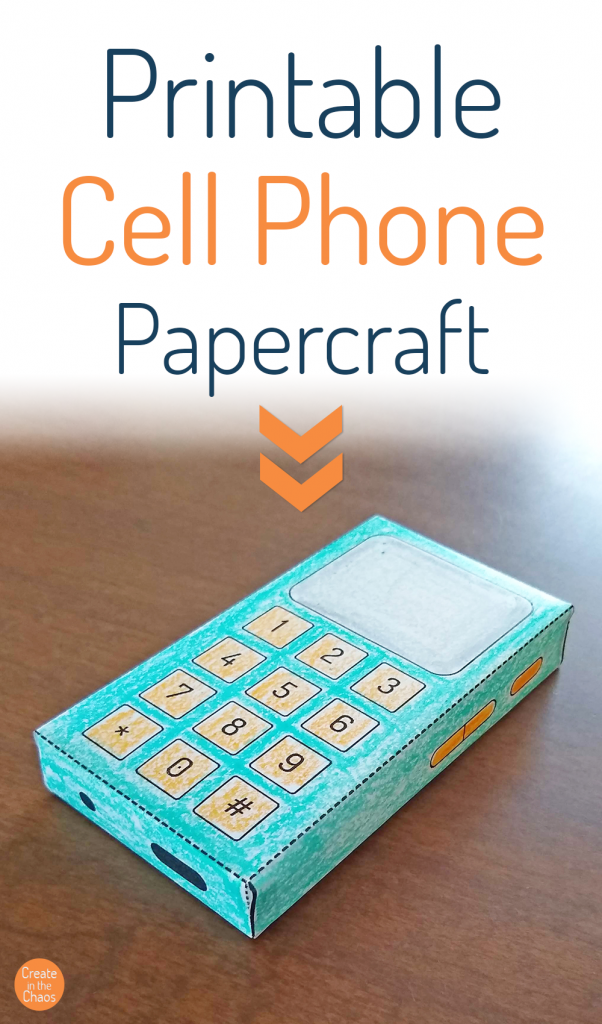 Free printable cell phone craft - easy papercraft for kids to encourage creative play.